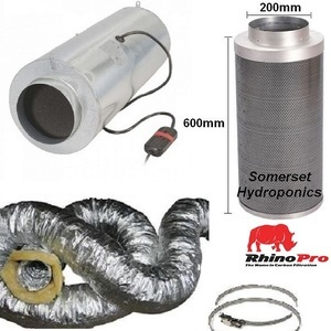 200mm 3-Speed ISOMAX 200x600 ventilation kit