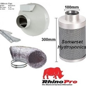 Systemair-Rhino Pro 100mm Single Speed Ventilation Kit