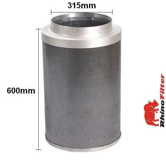 Rhino Pro Carbon Filter 315mm x 600mm 12 Inch (2400 Metre Cubed Per Hour) - Rhino Pro Carbon Filters