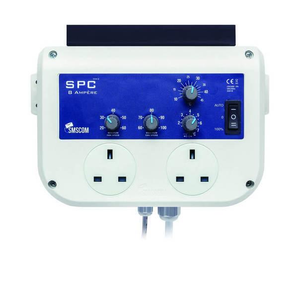 SMSCOM SPC 8amp Mk2 Twin Grow Room Fan Controller - Fan Controllers
