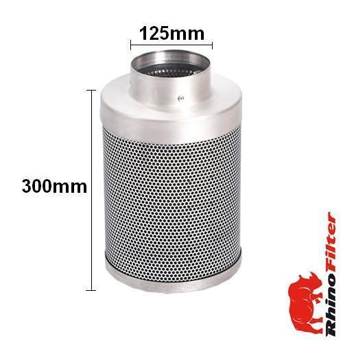 Rhino Single Speed HP Fan Ventilation Kit 125mm - Combi Duct - Rhino Single Speed Fan Ventilation Kits