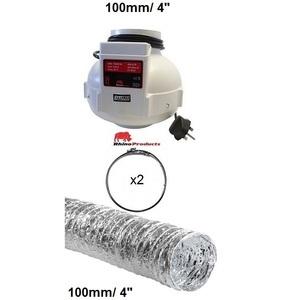 100mm rhino single speed fan