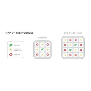 hacienda LED module map