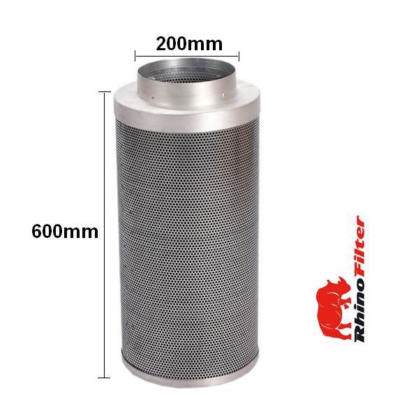 Rhino Single Speed HP Fan Ventilation Kit 200mm - Acoustic Duct - Rhino Single Speed Fan Ventilation Kits