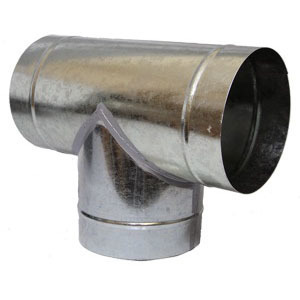 Metal Equal T Piece - Ventilation Accessories