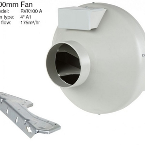 Systemair 100mm RVK fan