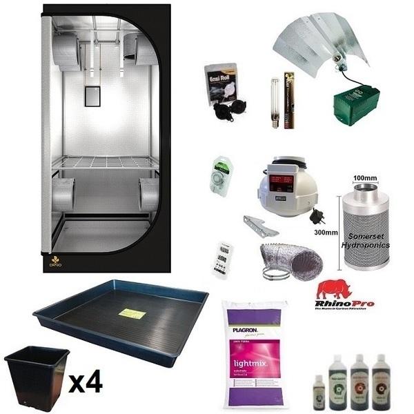 Organic 4 Plant Grow Kit - 400w - DR90 Tent - Hydroponic & Soil Growing Kits