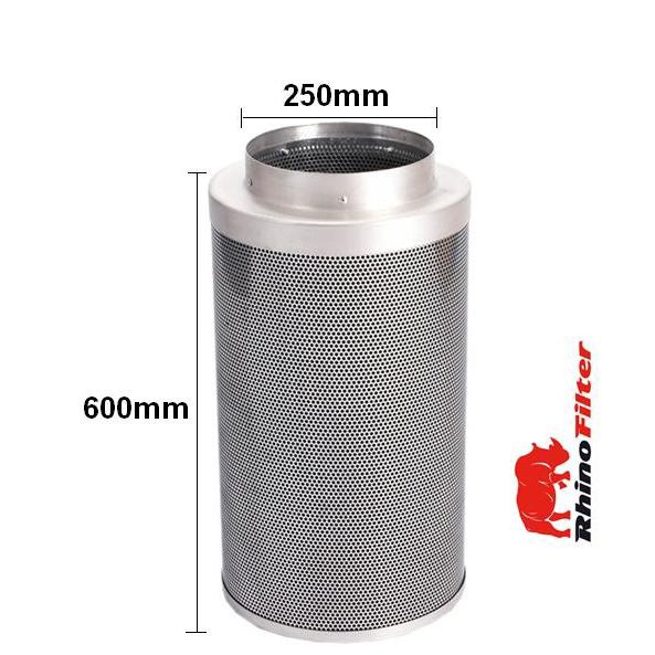 Rhino Single Speed HP Fan Ventilation Kit 250mm - Acoustic Duct - Rhino Single Speed Fan Ventilation Kits