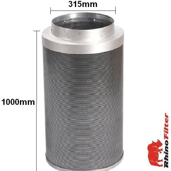 Rhino Pro Carbon Filter 315mm x 1000mm 12 Inch (4000 Metre Cubed Per Hour) - Rhino Pro Carbon Filters