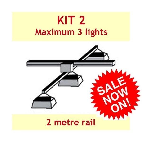 Jupiter2 Grow Light Rail Kit 2 - Grow Light Rails