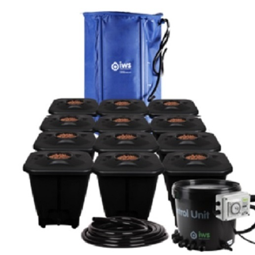 IWS 12pot DWC System - FlexiTank - DWC Growing  Systems