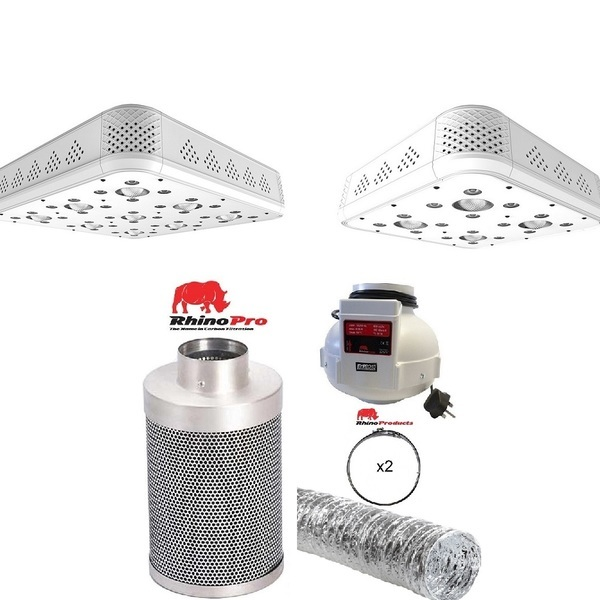 Hacienda H-4 & H-9 leds + 100mm Rhino Twin Speed Ventilation Kit - Hacienda LED