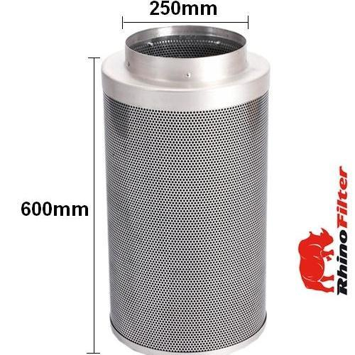 Rhino Pro Carbon Filter 250mm x 600mm 10 Inch (1420 Metre Cubed Per Hour) - Rhino Pro Carbon Filters