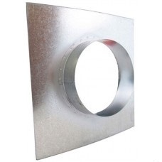 Metal Wall Flange 100mm	 - Ventilation Accessories