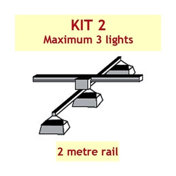 Jupiter 2 Grow Light Rail Kit 2 - Grow Light Rails