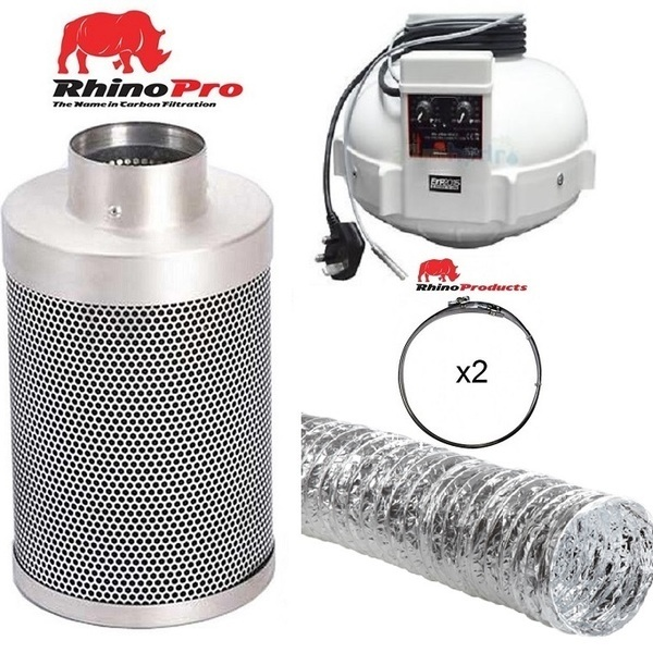 Rhino Thermostatically Controlled Fan Ventilation Kit - Aluminium Duct - Rhino Thermostatically Controlled Fan Ventilation Kits