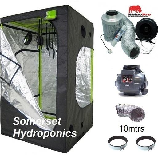 Green-Qube GQ150 + Twin Speed Ventilation Kit - Grow Tent Kits