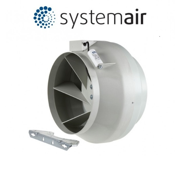 "250mm (10"") Systemair RVK L1/HP in-line Grow Room Fan - Inline Exhaust and Intake Fans"