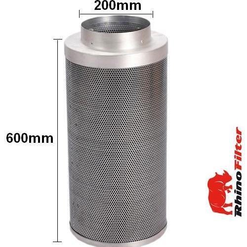 Rhino Pro Carbon Filter 200 x 600mm 8 Inch (1500 Metre Cubed Per Hour) - Rhino Pro Carbon Filters