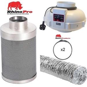 Rhino Twin Speed Fan Ventilation Kit - Aluminium Duct