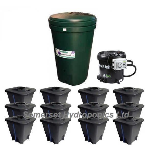 IWS 12pot DWC System - Plastic Tank - DWC Growing  Systems