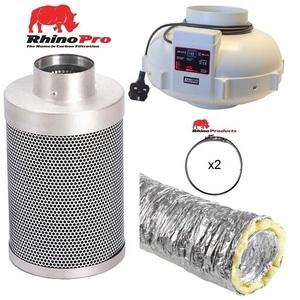 Rhino Twin Speed Fan Ventilation Kit - Acoustic Duct