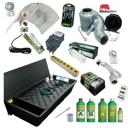 GT424 NFT 8 Plant Grow Kit - 400watt Soft Water - Hydroponic & Soil Growing Kits