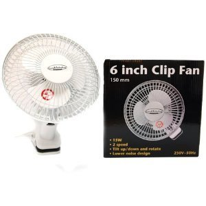 Growth Technology Clip-on 6inch Fan - Air Circulation Fans