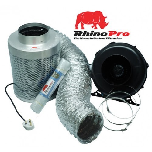 Rhino Thermostatically Controlled Fan and Carbon Filter Kit - Rhino Thermostatically Controlled Fan Ventilation Kits