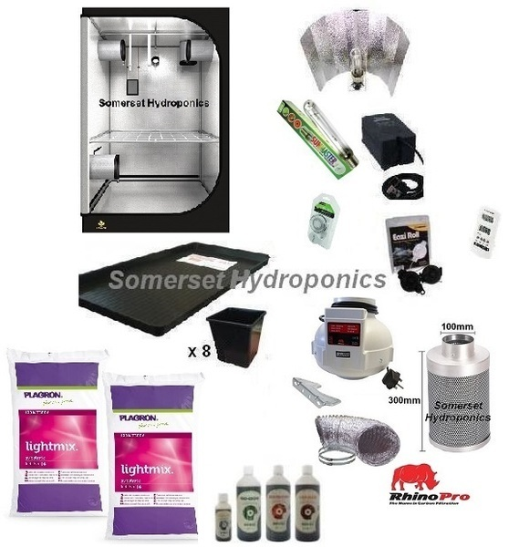 Organic 8 Plant Growing Kit - Hydroponic & Soil Growing Kits