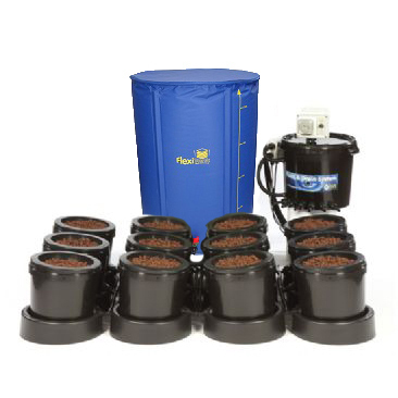 IWS Flood and Drain Aqua 12pot - FlexiTank - Flood & Drain Growing Systems