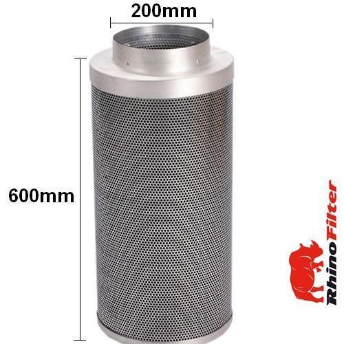 Rhino Single Speed HP Fan Ventilation  Kit 200mm - Alu Duct - Rhino Single Speed Fan Ventilation Kits