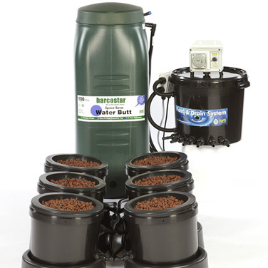 IWS Flood and Drain Aqua 6pot - Plastic Tank - Flood & Drain Growing Systems