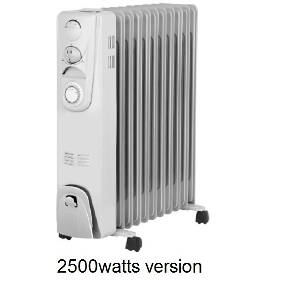Smart Gro Oil Filled Radiator - 2500w - Temperature and Humidity Control
