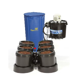 IWS Flood and Drain Aqua 6pot - FlexiTank - Flood & Drain Growing Systems
