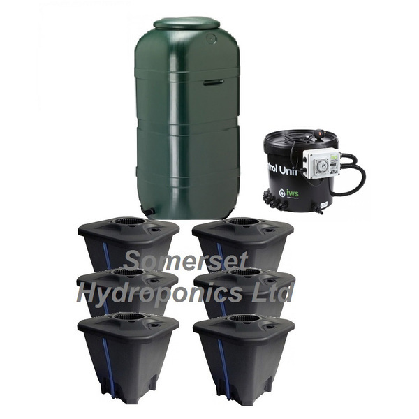 IWS 6pot DWC System - Plastic Tank - DWC Growing  Systems
