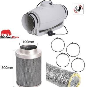 """Soler & Palau TD-Silent 100mm (4"""")  Ventilation Kit"""