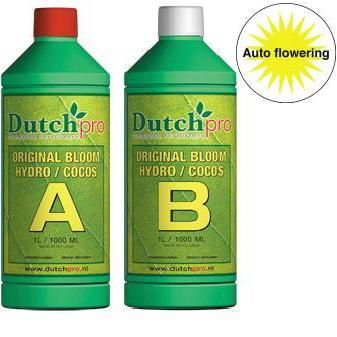 Dutch Pro Auto Flowering Bloom Hydro/Coco A+B Hard Water 1 Litre - Bloom