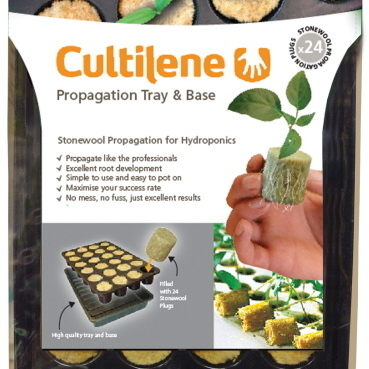 Cultilene Rockwool Round Plugs (tray 24) 36x40mm - Propagation Accessories