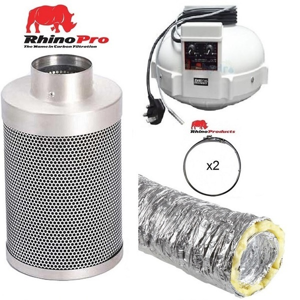 Rhino Thermostatically Controlled Fan Ventilation Kit - Acoustic Duct - Rhino Thermostatically Controlled Fan Ventilation Kits