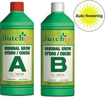 Dutch Pro Auto Flowering Grow Hydro/Coco A+B Hard Water 1 Litre - Grow