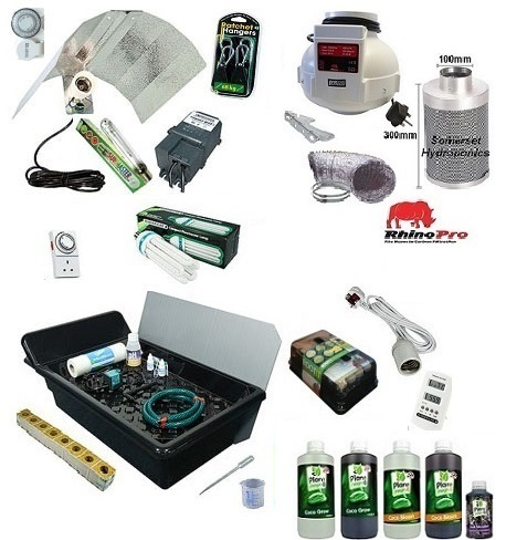 GT205 NFT 4 Plant Grow Kit - 400watt Hard Water - Hydroponic & Soil Growing Kits