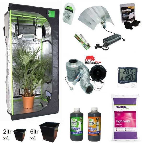 Green-Qube GQ100 - Maxibright Euro Pro-Select 600w Grow Kit - Hydroponic & Soil Growing Kits