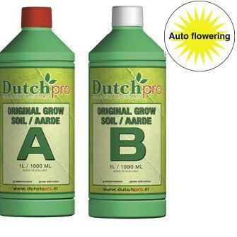 Dutch Pro Auto Flowering Grow Soil A+B Hard Water 1 Litre - Grow