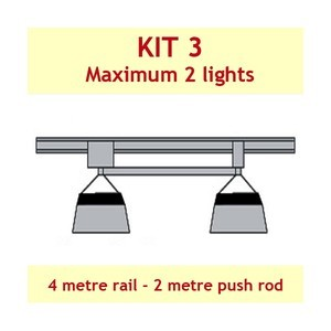 Jupiter2 Grow Light Rail Kit 3