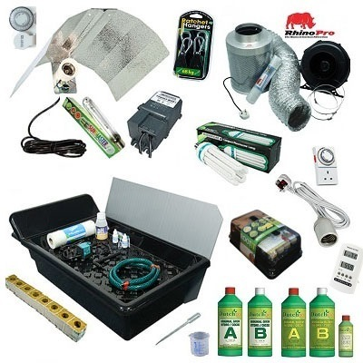 GT205 NFT 4 Plant Grow Kit - 250watt Hard Water  - Hydroponic & Soil Growing Kits