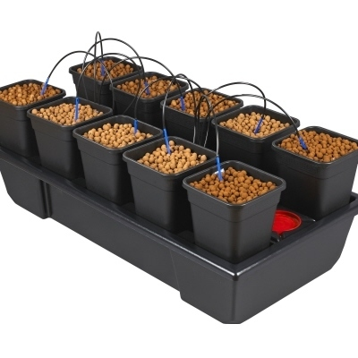 Wilma 10 pot Hydroponic Dripper system - Dripper Growing  Systems